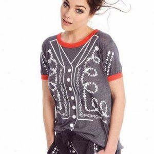 Wildfox Matador Short Sleeve Tee Gray Small NWT